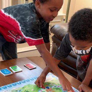 Kids playing WaterGame